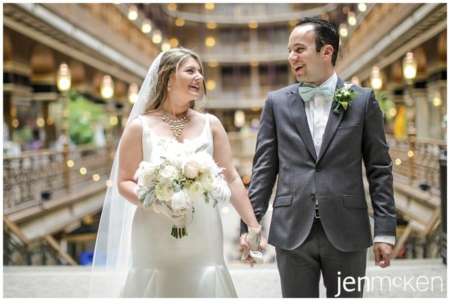 The Arcade, Cleveland Ohio Wedding Photographer