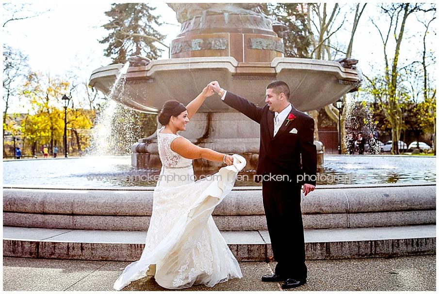 Pittsburgh PA wedding photographer-sunset room