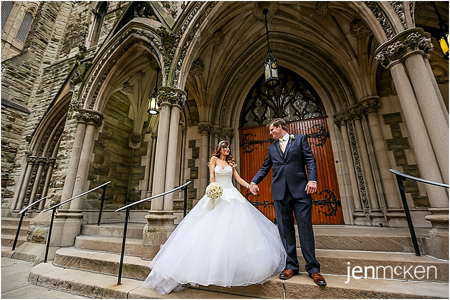 wedding portraits first presbyterian church of pittsburgh pa