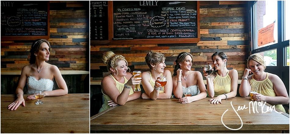 levity brewing company wedding photos