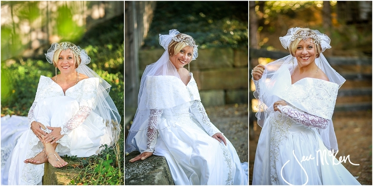 Photo Shoot With 1991 Wedding Gown