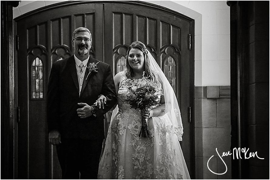 dad and daughter at wedding