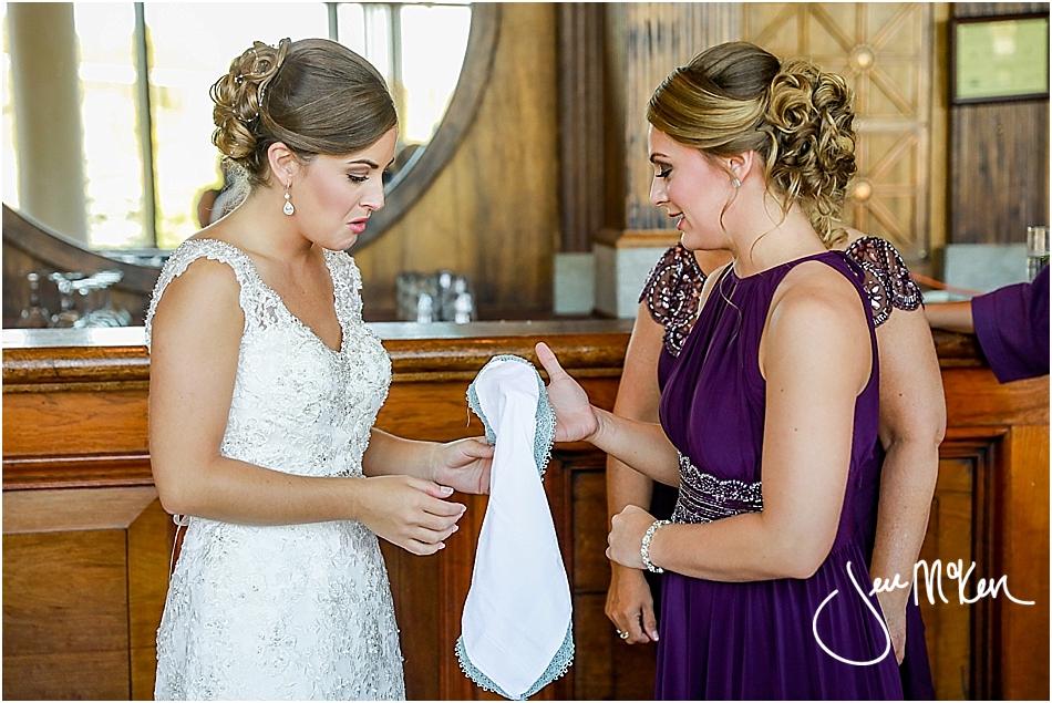 sentimental wedding hankie