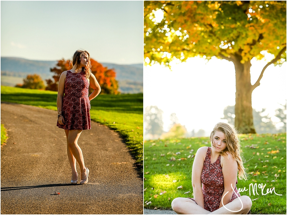 senior pictures in the fall
