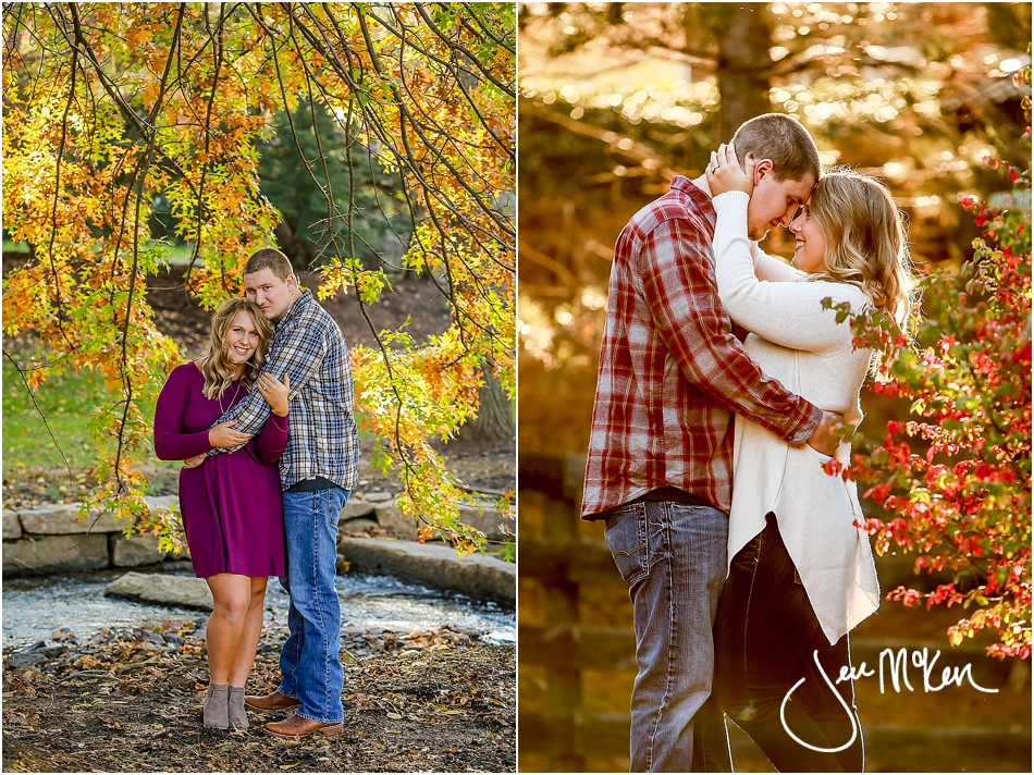 fall leaves engagement