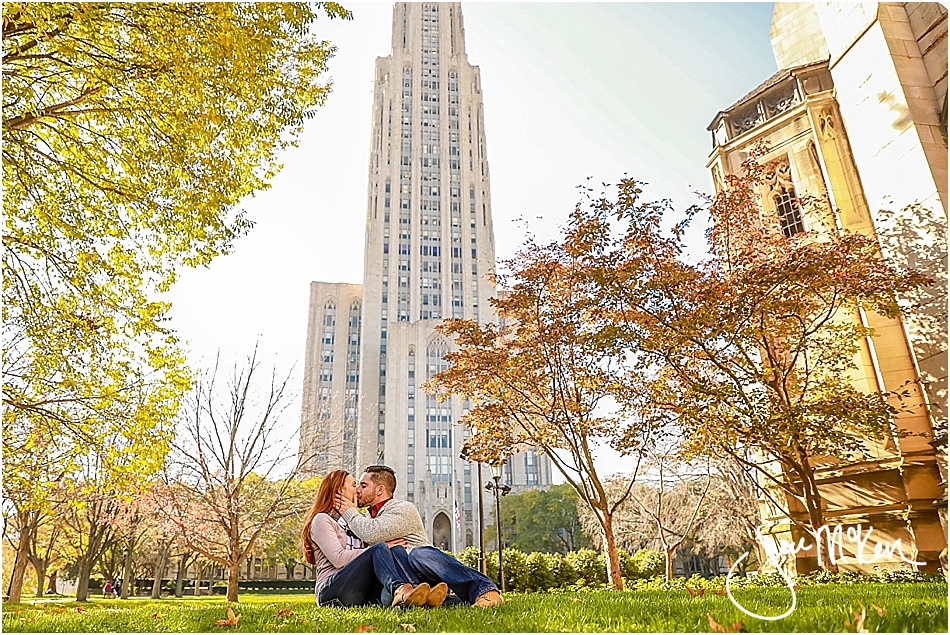 cathedral of learning engagement photos