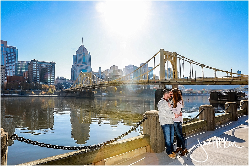 engaged couple in pittsburgh
