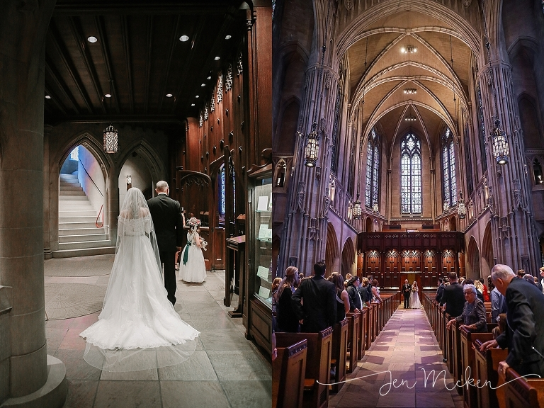 Greg Snapped This One The Gorgeous Interior Of Heinz Chapel Wedding Ceremony As Father Walks His Daughter Down
