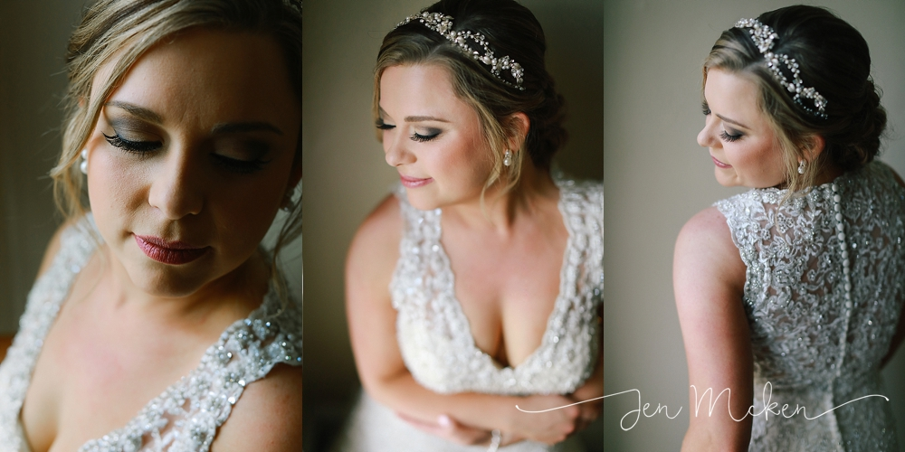 bridal portraits near window light