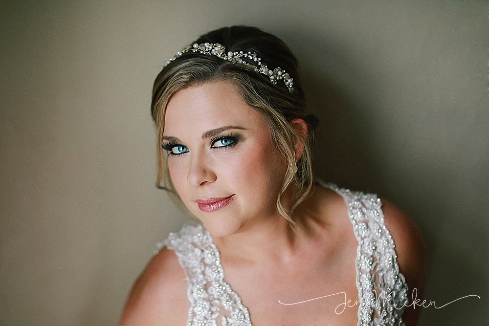 portrait of the bride near window light