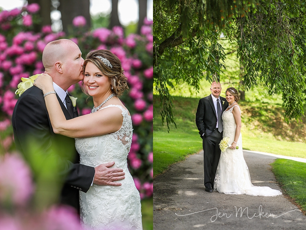 wedding photos at indiana country club in indiana pa