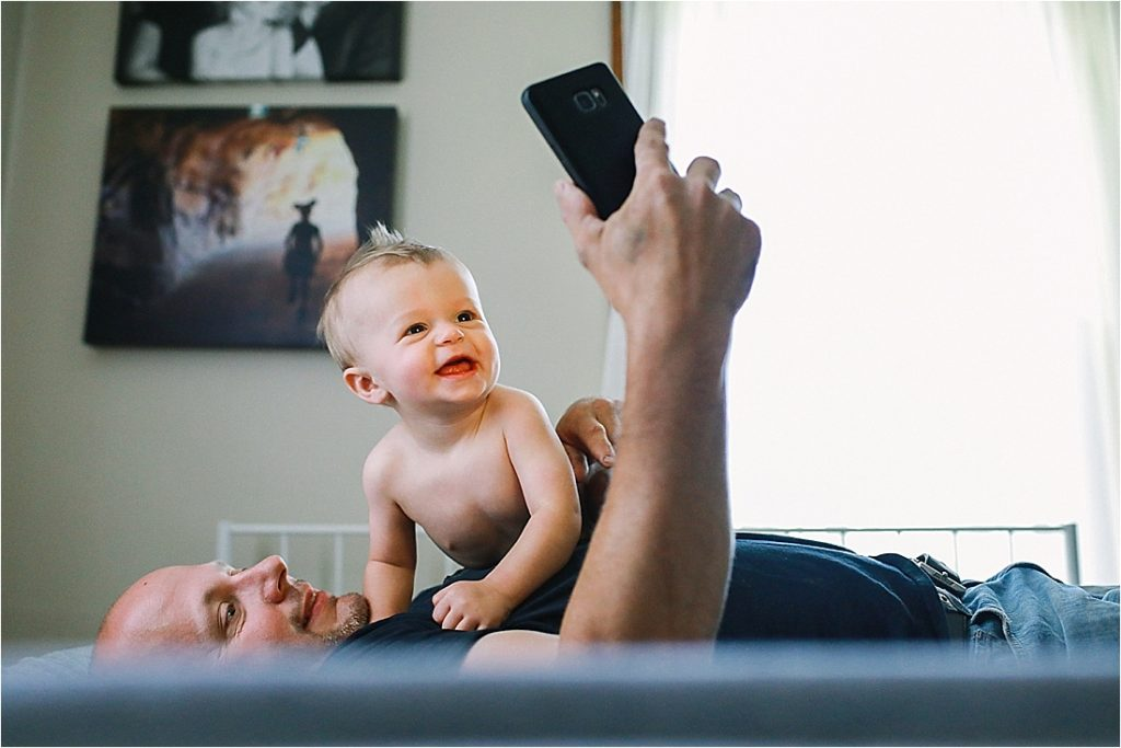 11 month old baby loves the iphone