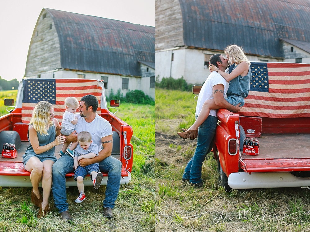 july 4th photos at the family barn in blairsville pa with the american flag