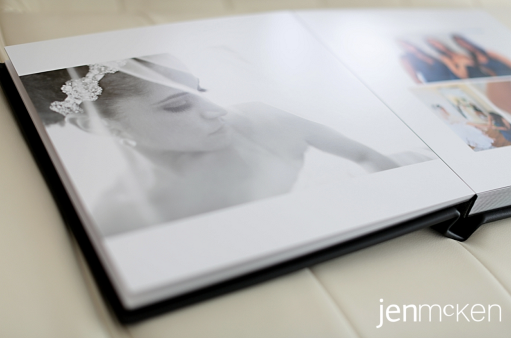 example of what an inside of the wedding album looks like