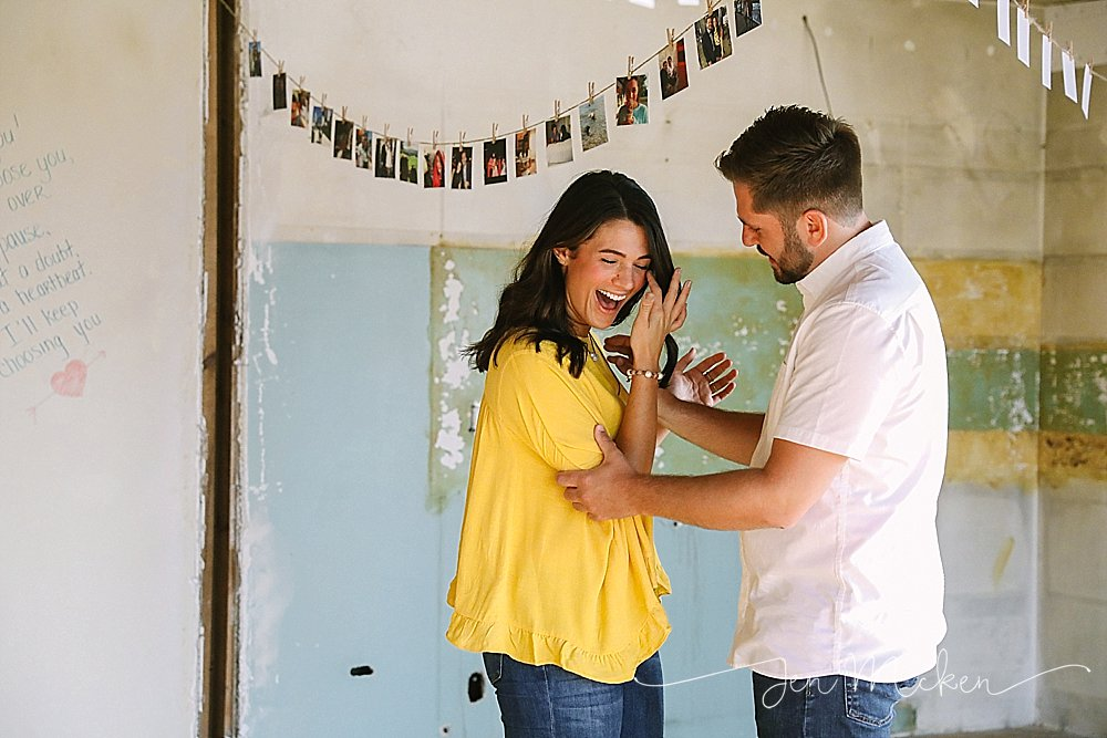 a surprise proposal in a gutted renovated home in indiana pa