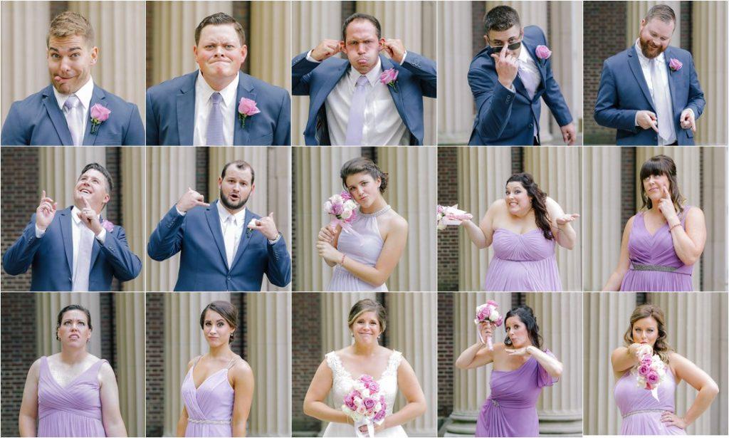the wedding party brady bunch style