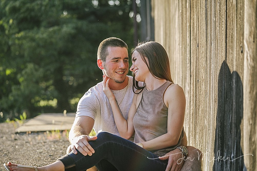 rustic engagement photos in blairsville indiana county pa