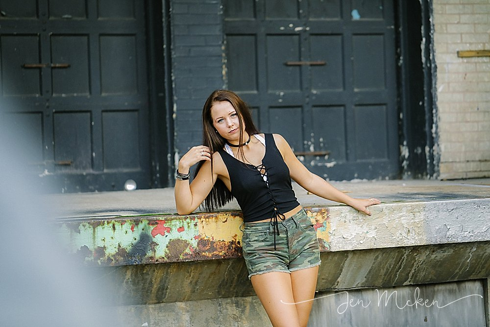 urban senior photos in down town indiana pa located in indiana county pa