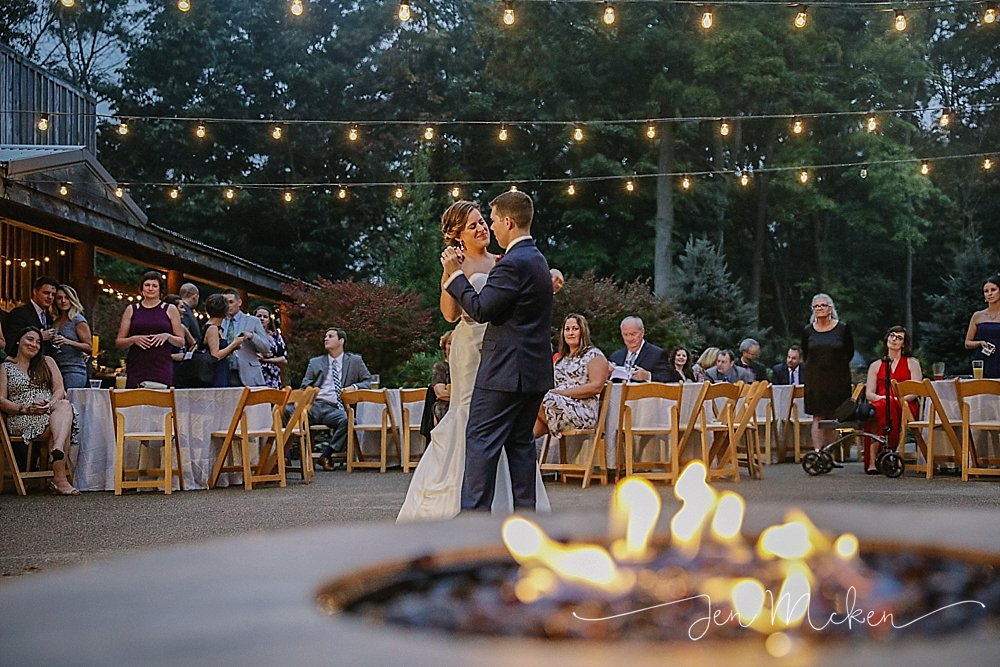 first dance beside the fire at oak lodge pa