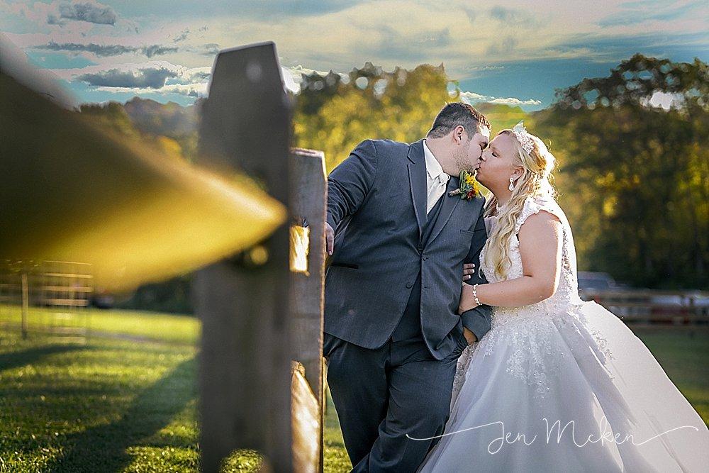 rustic barn wedding reception in shelocta pennsylvania