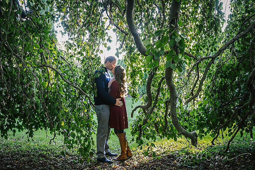 st. francis college engagement photos in the fall