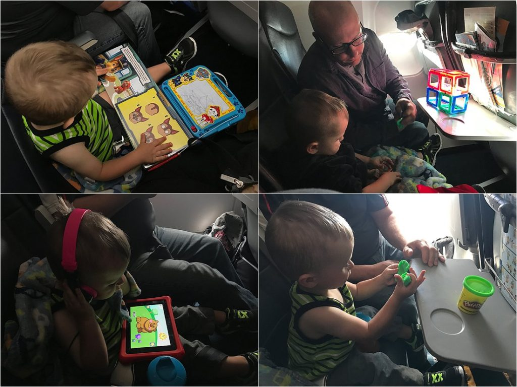 international flight with a toddler activities