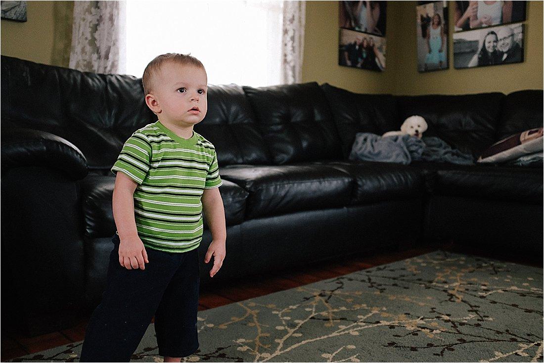 toddler watching tv