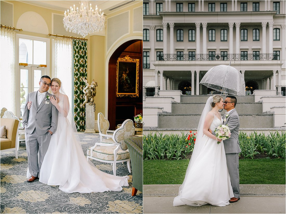 nemacolin wedding photos in the tea room