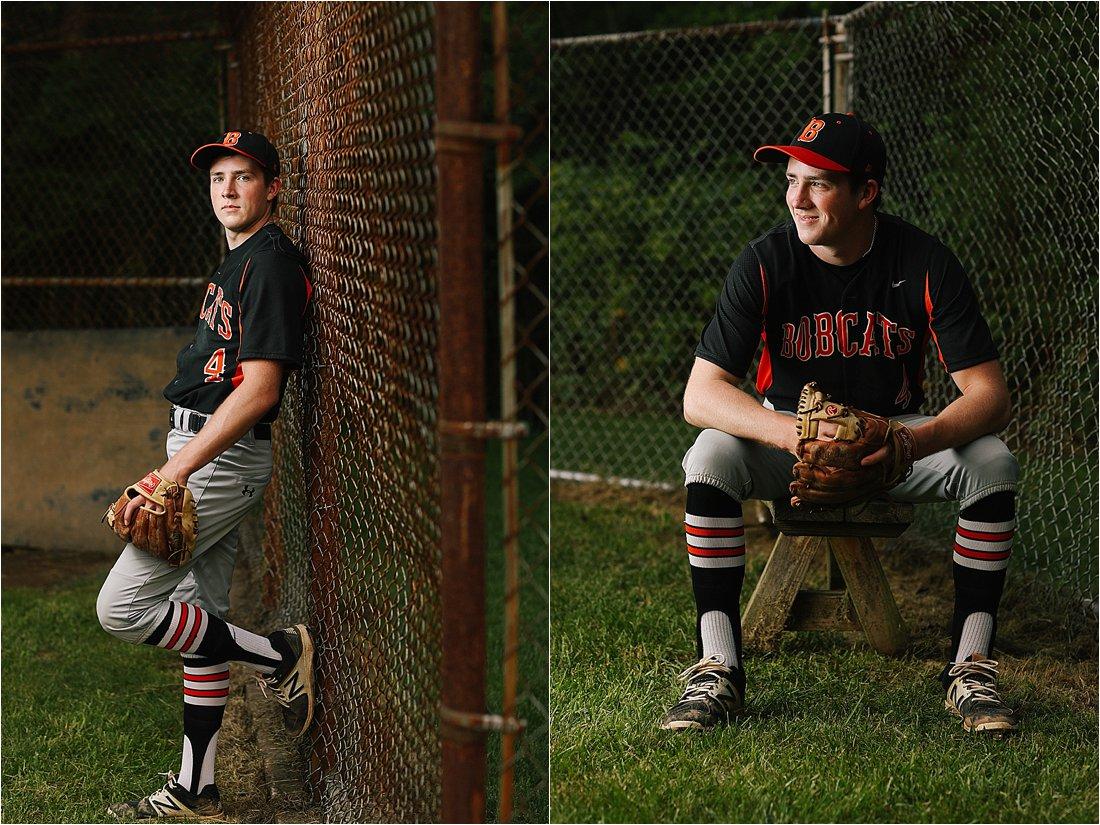 high school senior photos with baseball