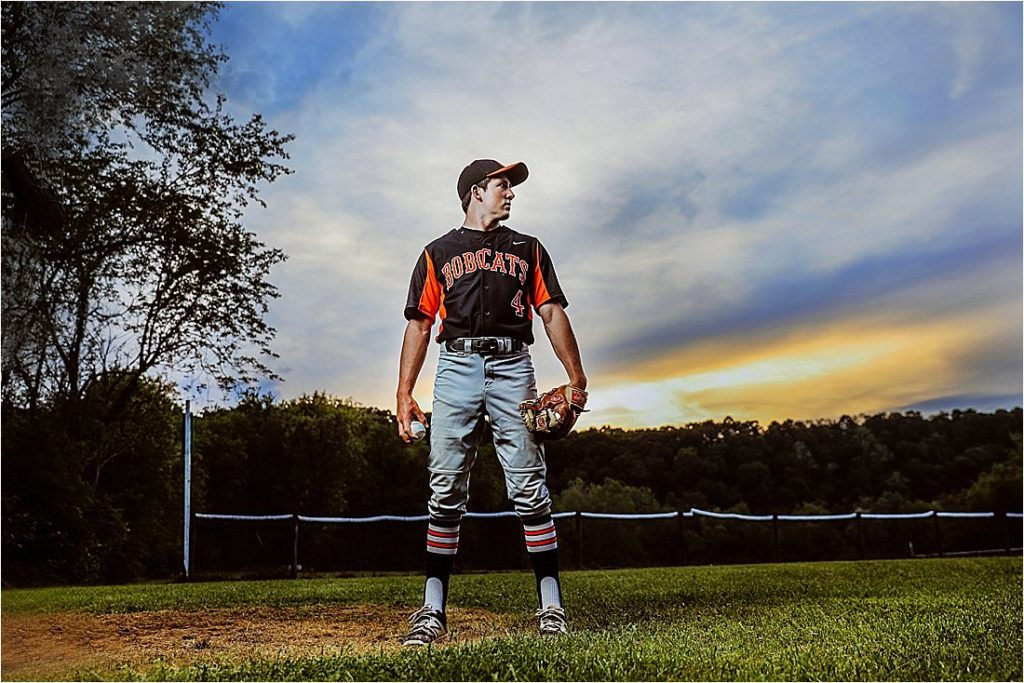 high school senior photos with baseball