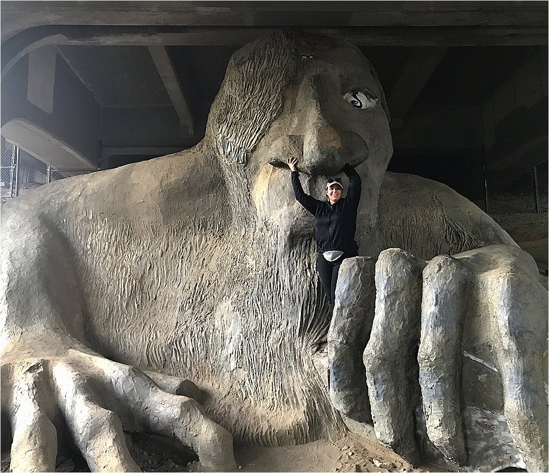 seattle troll under the freemont bridge