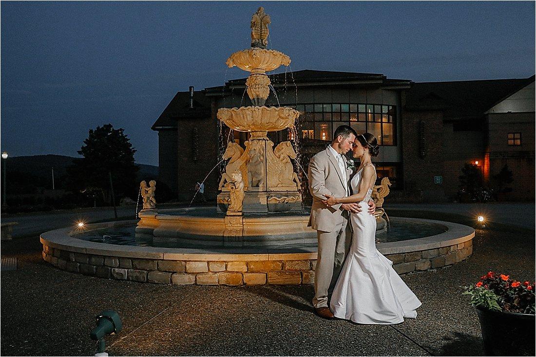 chestnut ridge blairsville fountain wedding photos