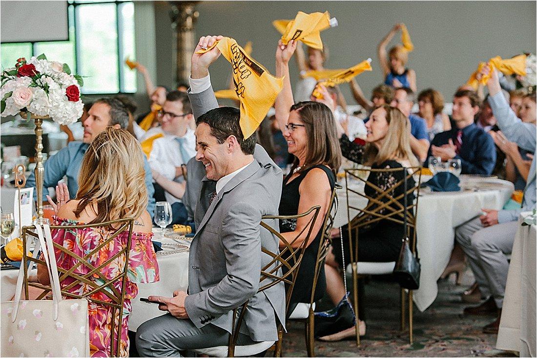 pittburgh steelers terrible towels at weddings