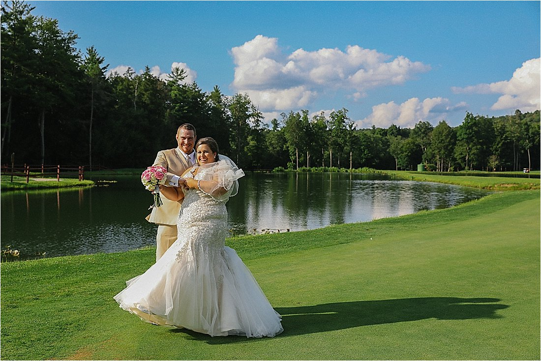chetremon wedding in cherry tree pa golf course