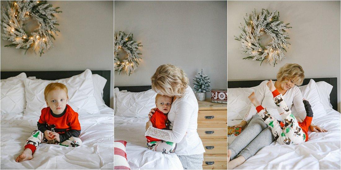 holiday pajama sessions in saltsburg pennysylvania