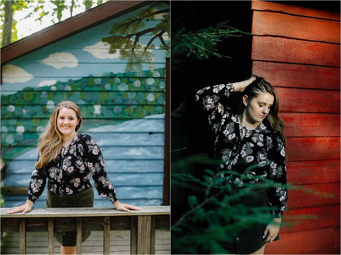 Senior photos at Pine Springs Camp in Jennerstown PA