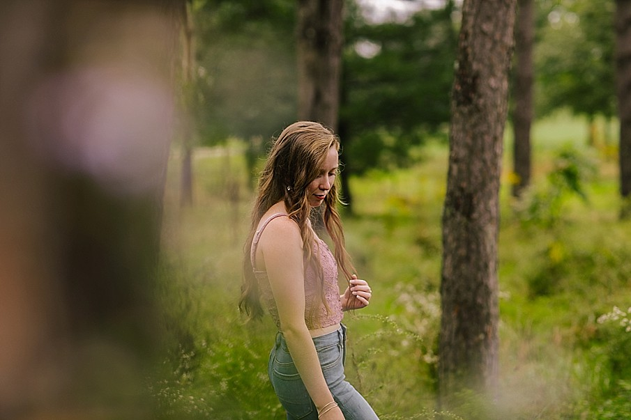 high school senior photos at yellow creek state park in pennsylvania